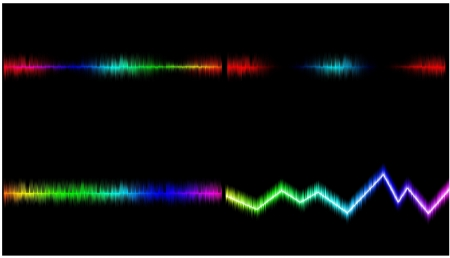 mix sound wave.It is a colorful background. Stock Photo - 17174035