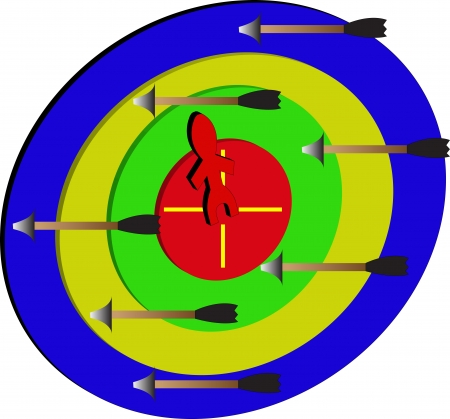 Dart/target/a people on the target Stock Photo - 17800603