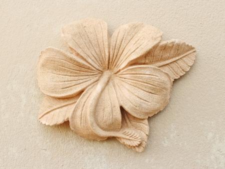 Stone Plumeria craft art design for spa photo