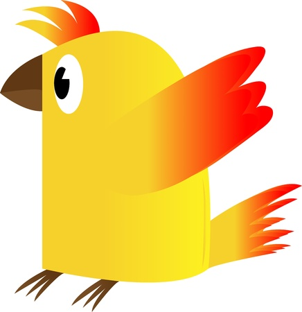 Chicken on a white background.Vector drawing. Stock Photo - 18344359