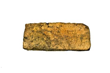 sedimentary: Laterite on a white background. (aluminum ore) Stock Photo
