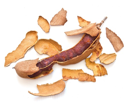 Tamarind on a white background  photo