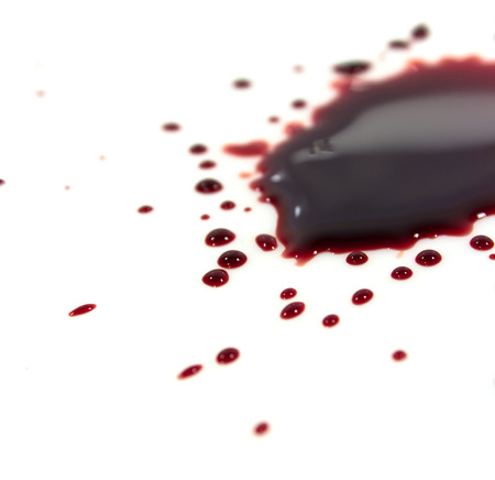 bloodstains: Blood stains (puddle) isolated on white background.