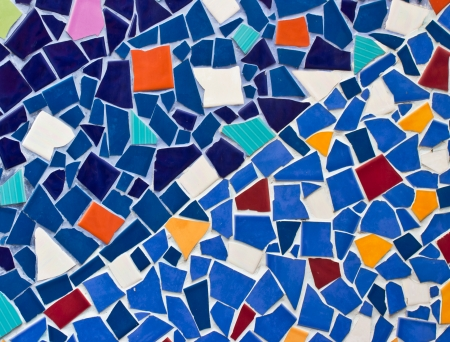 Multicolored small tiles abstract pattern  photo