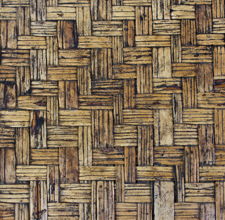 old brown woven bamboo close up texture photo