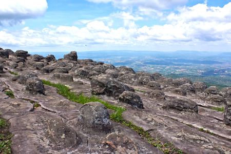 Laan Hin Pum Viewpoint at Phu Hin Rong Kla National Park, Phitsanulok, Thailand  photo