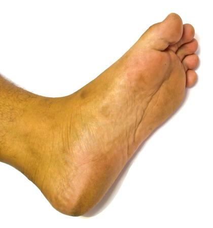 man foot Banco de Imagens