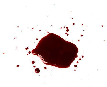 Blood drip on white background