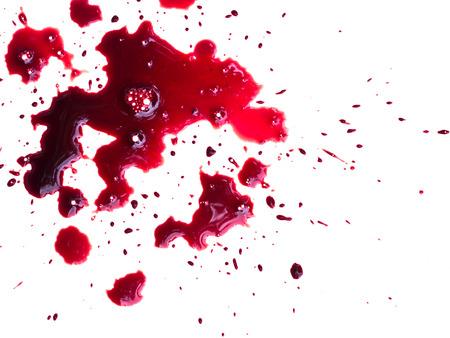 Blood drip on white Stock Photo