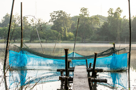 fish farm: the coop for fish farm in thailand