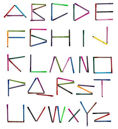 english letters: English Alphabet Letters Set for color pen