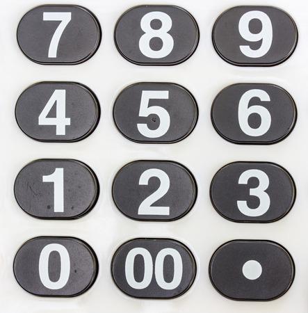 teclado num�rico: Teclado num�rico blanco, close - up