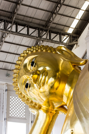 Golden Statue of Reclining Buddha, Thailand