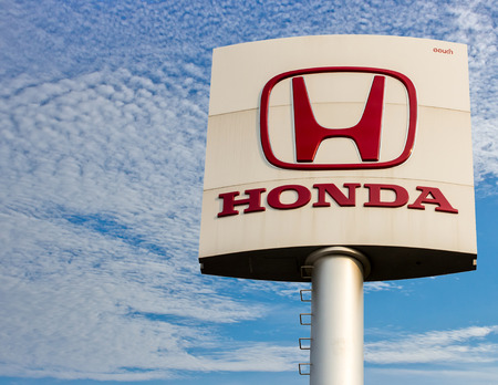 acura: Phichit,THAILAND - FEBRUARY 14 : An emblem of Honda dealer, shot in front of Honda dealer Thailand,February 14 2015, Phichit,Thailand.
