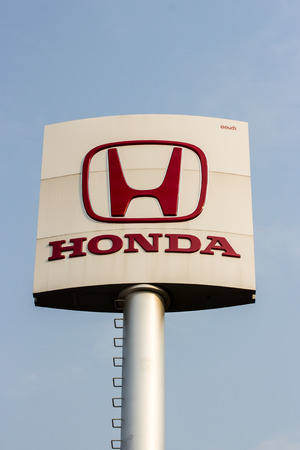 acura: Phichit,THAILAND - FEBRUARY 12 : An emblem of Honda dealer, shot in front of Honda dealer Thailand,February 12 2015, Phichit,Thailand.