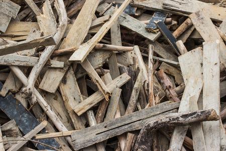 Waste wood pile