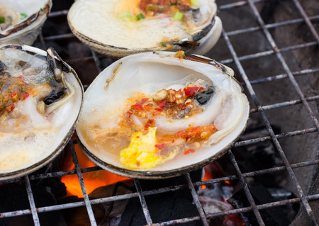 Oyster butter on the grill.