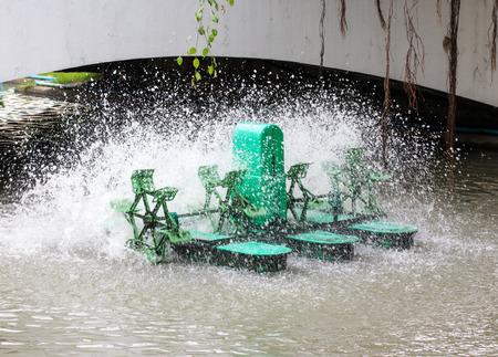 water turbine: Green Water turbine working in pool