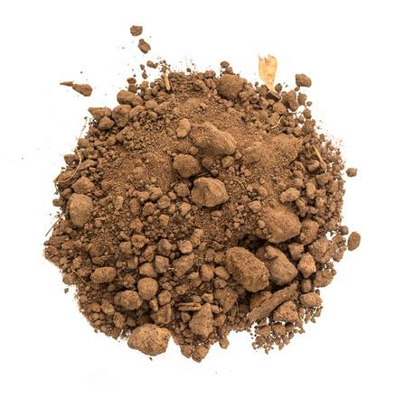 dirt pile: pile dirt of soil land on white background