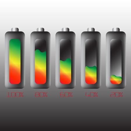 capacitor: Battery levels set Illustration