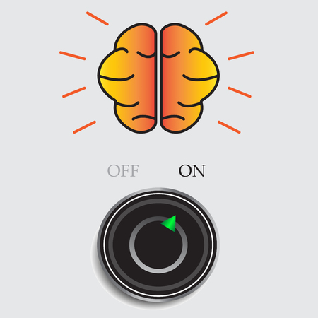 toggle switch: On switch and brain idea