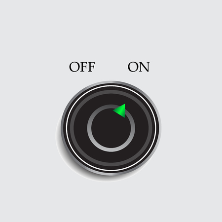 trigger: OnOff switch - vector design icon Illustration