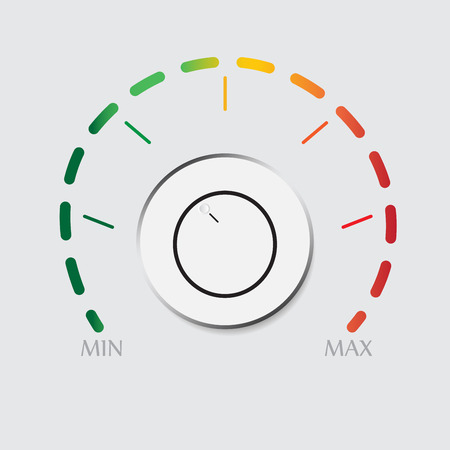 volume control: White plastic volume control with colorful dial