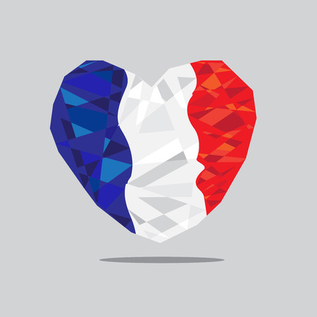 ico: French hearts Polygon