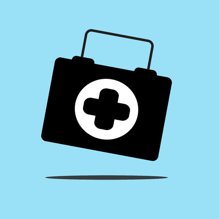 ems: Physician or doctor bag flat icon for app and website