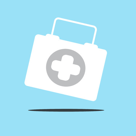 physician: Physician or doctor bag flat icon for app and website