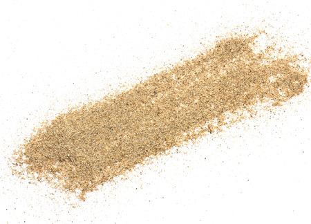 desert sand: pile desert sand isolated on white background