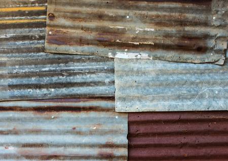 corrugated metal: Rusty corrugated metal wall