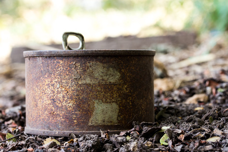 tin: Rusty tin can