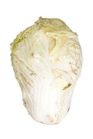 decompose: Rotting cabbage on white background