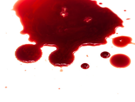 Blood stains on white background Foto de archivo