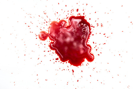 blood stain: Blood stains on white background Stock Photo