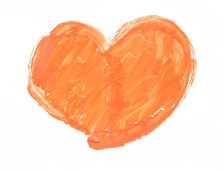 art painting: watercolor heart. Concept - love, relationship, art, painting Stock Photo