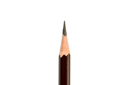 pencil point: Pencil point close-up on white background