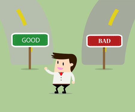 bad leadership: businessman confused choosing way