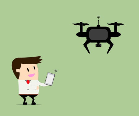 developed: Drone take a businessman everywhere