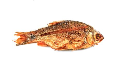 fryed: fryed fish on white background