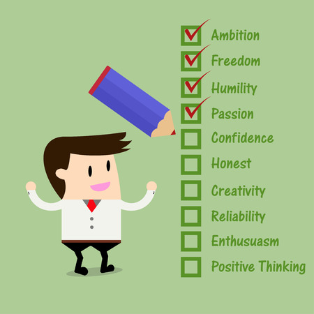 employers: Businessman Quality Checklist.Attributes employers want