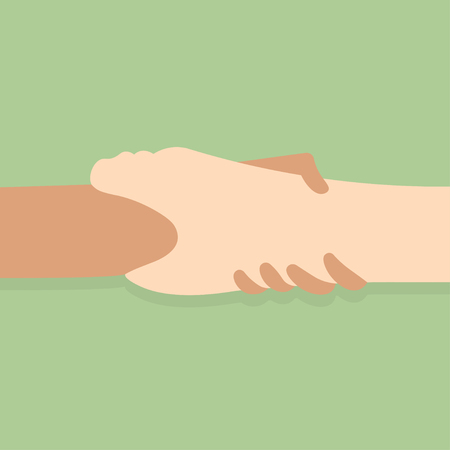 Hand  holding Hand  for help and hope