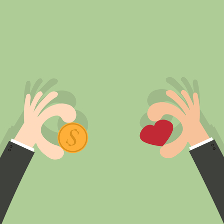 give money: give money give heart for love