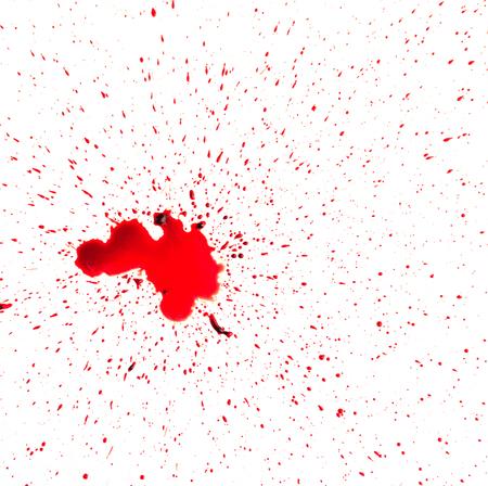 Blood splashed on white background Banco de Imagens