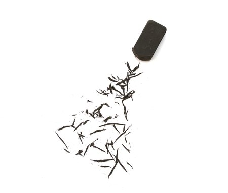Black eraser on  white background. 免版税图像
