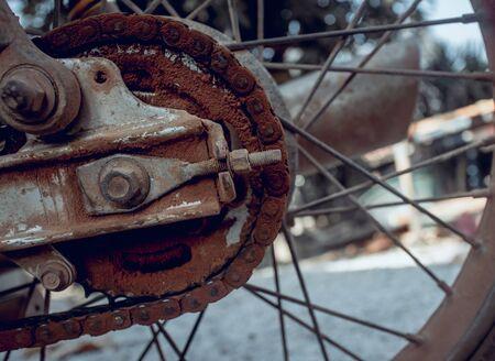 old motorcycle chain Фото со стока