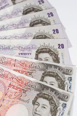 Twenty-pound and fifty-pound notes