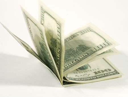 onehundred: One-hundred dollar bills (macro) Stock Photo