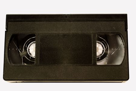 vhs videotape: Old video tape (isolated on white) Stock Photo